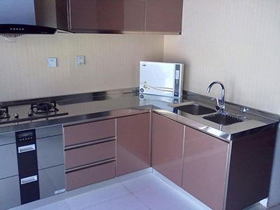 304 stainless steel shallow kitchen cabinets