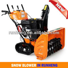 RUNHENG RH015BS 28-Inch 420cc Snow engine Gas Powered Two Stage Snow Thrower With Electric Start, Power Steering & Track Drive