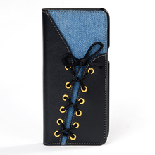 Jeans Pattern Wallet Leather Stand Mobile Phone Cover Case For Samsung Galaxy S8