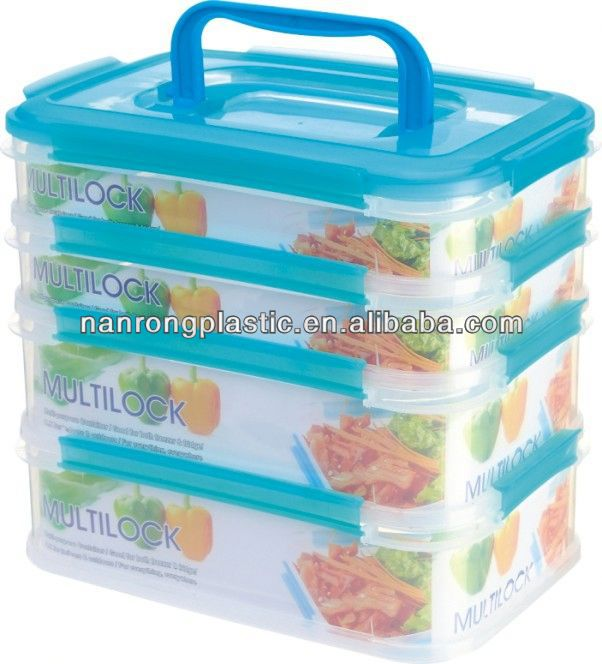 2013 made in china plastic Airtight food container plastic household item mould