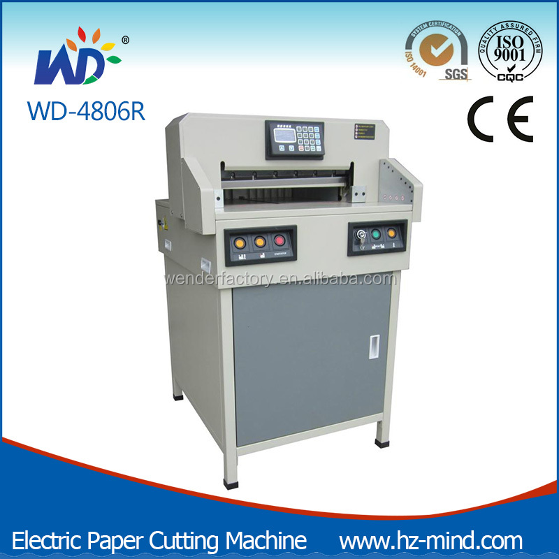 Professional manufacturer Office equipment WD-4806R Programmable 18 inch paper cutter guillotines