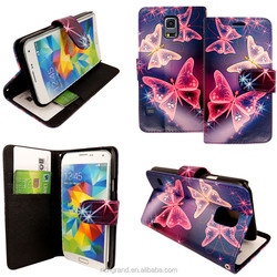 Special Pattern Butterfly Wallet Flip Leather Case Cover For Samsung Galaxy S3 / S5 For Apple iphones