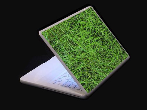 high quality notebook laptop protective skin sticker, grass printing
