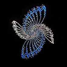 Blue 20ss ab crystal rhinestone transfers case for tablet