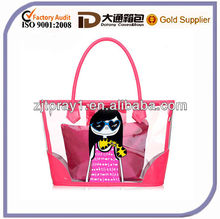 Summer candy crystal pvc beach shopping tote Bags