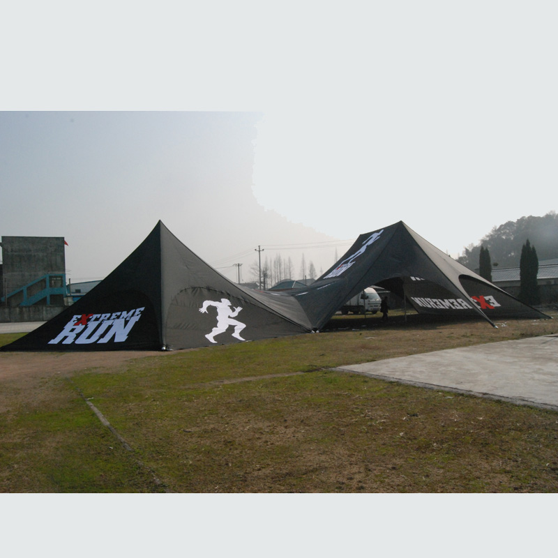 14x19m outdoor double pole twin star shade tent/Promotion star tent