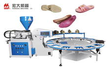 Slippers rotary pvc shoe sole making vertical screw type injection moulding machine