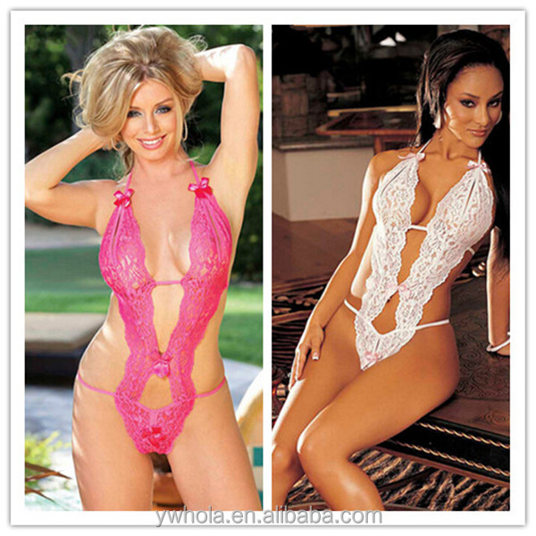 Wholesale Lady Lace Nightwear Black Hot Sexy Mature Woman Lingerie