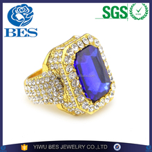 New Arrival Non-fade Alloy Full Diamond Ring Latest Gold Finger Ring Designs