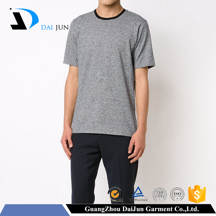 china factory round neck cheap plain no name brand t-shirts