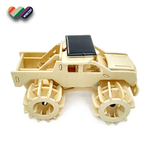 Monster Truck Puzzle Solar Powered 2 in 1 Wooden Toy Car