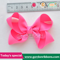 baby pink big hair bow with clips