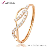50626-xuping custom jewelry cheap wholesale rose gold charm bangles