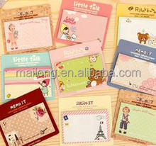 Pure and fresh and lovely cartoon of Japan and South Korea stationery lovely notes 12 g PN5436