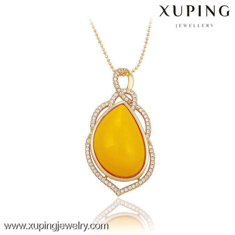 32530 -Xuping Jewelry new designed fashion 18k gold plated pendant with big stone