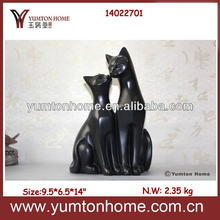 Resin black cat figurine resin statues
