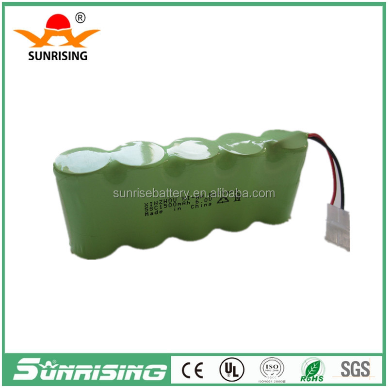 China Brand AA600mAh 6.0v nimh rechargeable battery pack