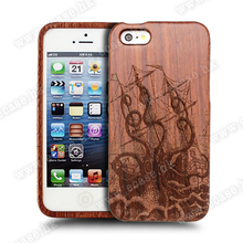Wood bamboo cover custom cell phone case for iphone 6s case.