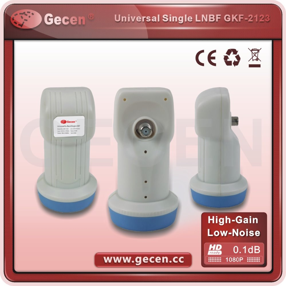 Gecen Low Noise HD Single KU BAND LNB Universal LNBF for tv decoder
