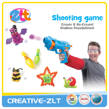 Magic thorn ball clusters with shooting gun toys