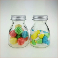 Nice candy glass jar with metal lid