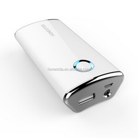Smartphone power bank good handle glossy light weight power banks with button