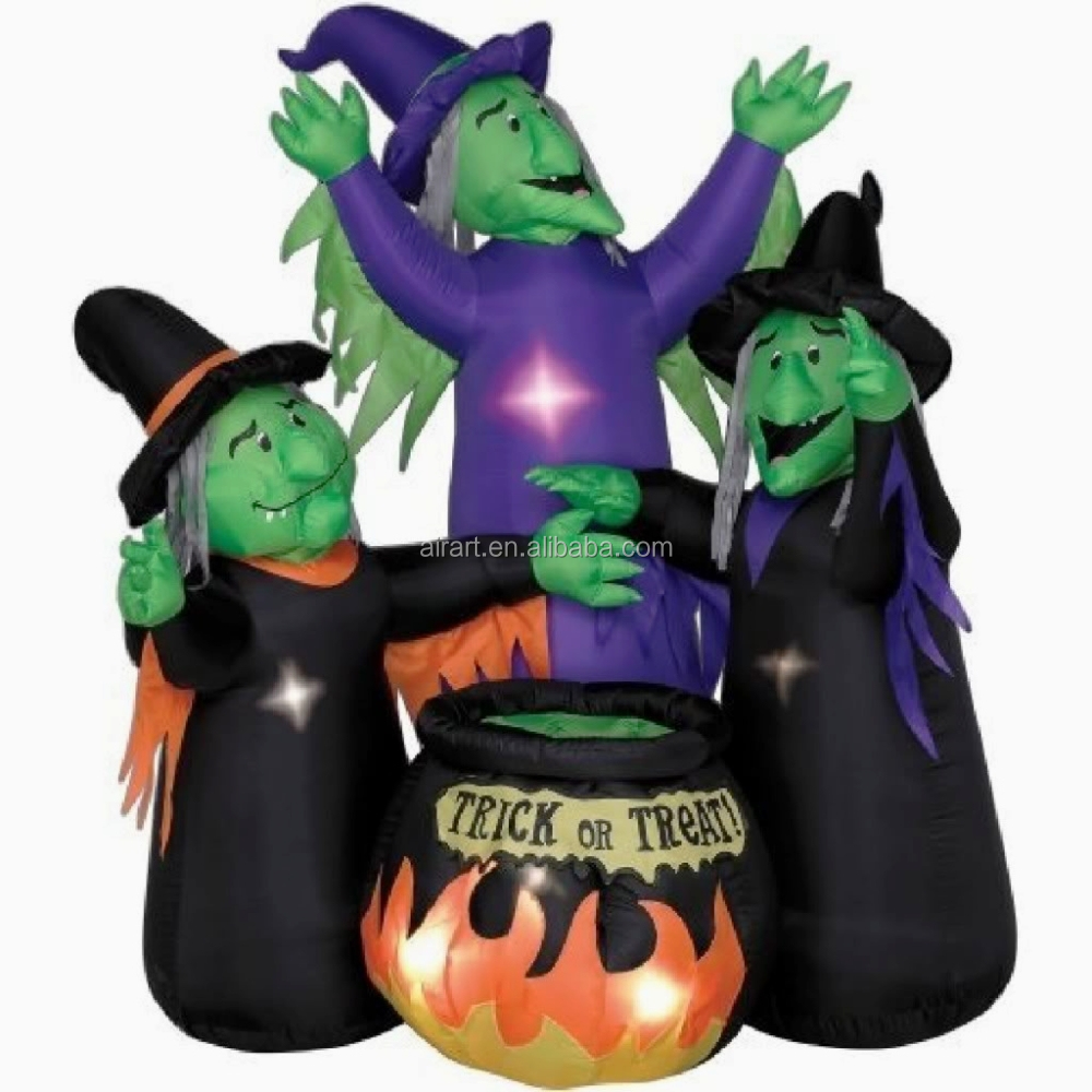 outdoor halloween decorations inflatable witch