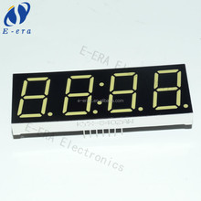 0.8 inch White CC 7 segment led display 4 digit 14 legs with clock for sale