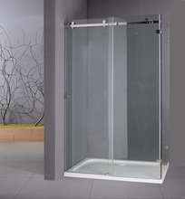 Lianyungang AST SS8006 glass bathroom mobile acrylic sector design sliding doors shower stall