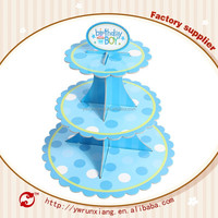 Customized top sell paper cupcake stand,3 tier cupcake stand/cupcake stands wholesale/round cupcaketree