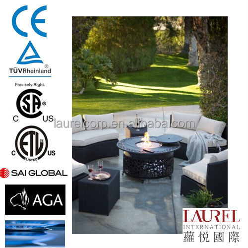 Outdoor Aluminum and Stainless steel gas firepit