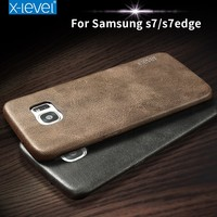 X-Level Wholesale 5.1 Inch Vintage Style PU Leather Phone Case for Samsung Galaxy S7