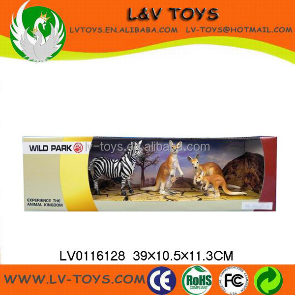 High quality plastic animal toys ,realistic zoo animals plastic toy set