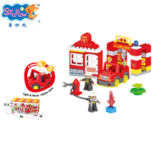 ABS Safe Material Intelligence Kids Toys Building Block Set With Music And Light