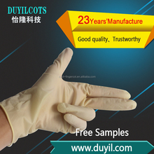 Low Price Disposable Medical Powder Free Yellow fraction latex gloves