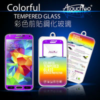 high quality 9h hardness anti scratch 0.33mm 2.5d color tempered glass screen protector for iphone 5