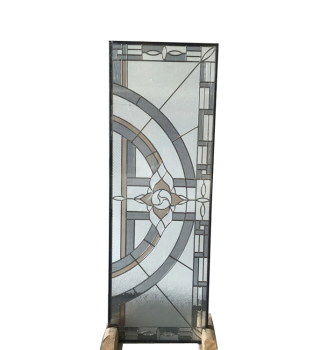 tempered embroidered glass panel for doors