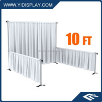 Outdoor decoration for wedding background with high quality pipes and drapes