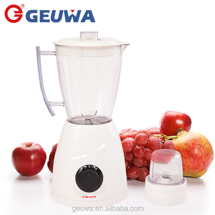geuwa home appliance commercial 2 in 1 juicer and blender with dry mill