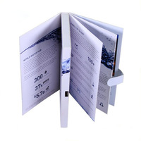 "2.8/3.5/4.3/7"" LCD Video Brochure Card Booklet Video Card for advertisement"