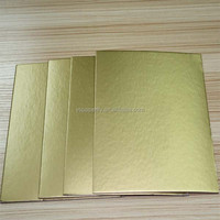 round cake board/ greyboard laminated cake board foil paper/ gold cake board