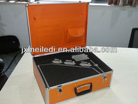 buckles aluminum tool box with PE cut outs MLD-AC618