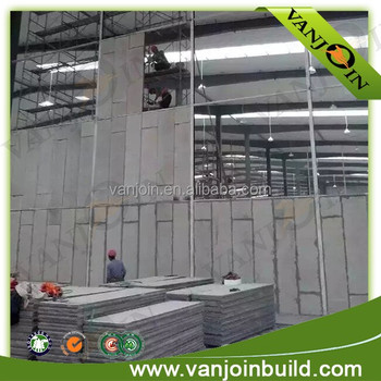Prefabricated prefab foam cement concrete walls precast for Foam concrete walls