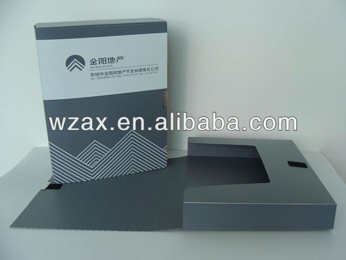 Custom size PP/PVC plastic file box with sleeve