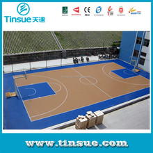Basketball interlocking flooring for outdoor courts