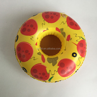 pool party decoration pizza coaster inflatable pizza drink holder