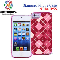 Sublimation Diamond Crystal Case for iPhone 5 5s, Custom Printable Mobile Phone Case