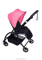 New style baby simple prams to comfort baby with 3 recliners wide space pram for baby to sleep comfortable and have good sleep