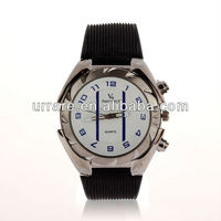 2013 Dropship Hot Fashion Silicone Watches Two Line New Brands Bracelet Chain Round Watch Numbers Sport