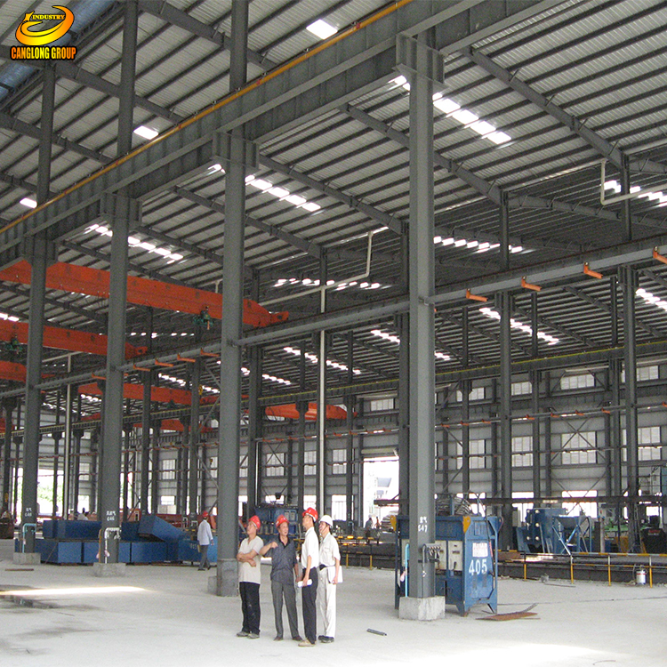 Self square fiberglass storage shed steel building